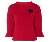Pullover mit floralem Aufnäher
