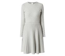 Kleid aus Baumwoll-Seide-Mix mit langen Ärmeln