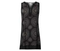 Kleid aus Viskose mit Kreismuster
