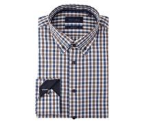 Modern Fit Business-Hemd mit Vichy Karo