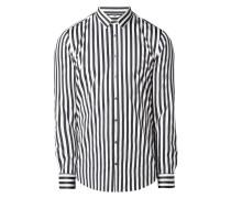 Super Slim Fit Business-Hemd mit Streifenmuster