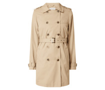 Trenchcoat mit Schulterkoller Modell 'Movement'