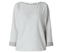 Sweatshirt mit angeschnittenen Ärmeln