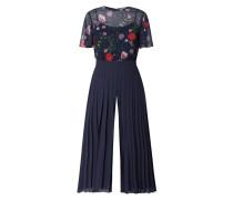 Jumpsuit aus Chiffon mit floralem Muster