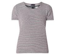 Shirt mit Streifen in Boucléoptik