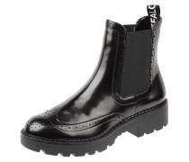 Chelsea Boots in Lack-Optik mit Lyralochung