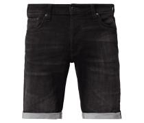 Stone Washed Jeansshorts aus Sweat Denim