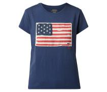 T-Shirt mit Flaggen-Aufnäher