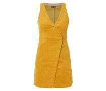 Kleid aus Cord mit Drucknopfleiste