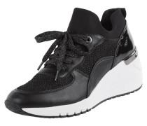 Sneaker Wedges mit Glitter-Effekt