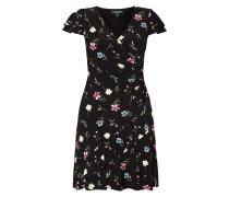 Kleid mit floralem Muster und Volantbesatz