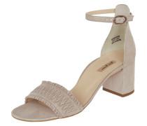 Sandalette aus Veloursleder mit Glitter-Effekt
