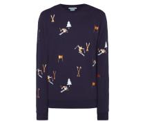 Sweatshirt mit Ski-Stickereien