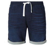Straight Fit Shorts aus Sweat Denim