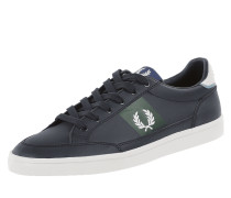 Sneaker aus Leder mit Logo-Stickerei