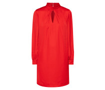 Kleid in schimmernder Optik mit Cut Out