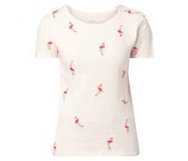 T-Shirt aus Slub Jersey mit Motiv-Stickereien