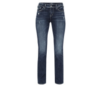 Used Look High Rise Straight Fit Jeans
