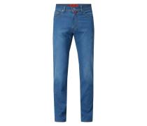 Regular Fit Jeans mit Label-Patch