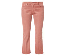 Cropped 5-Pocket-Hose aus Cord