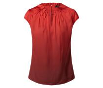 Blusenshirt aus Satin mit Raffungen