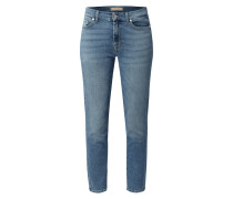 Cropped Jeans mit Stretch-Anteil