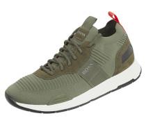 Sneaker aus Textil und Leder