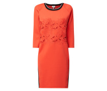 Kleid aus Scuba mit floraler Spitze