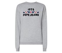 Sweatshirt mit Logo-Applikation aus Frottee