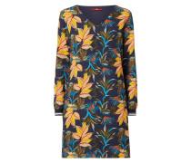 Kleid mit Blättermuster