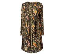 Kleid aus Viskose mit floralem Muster