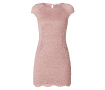 Kleid aus floraler Spitze mit Muschelsaum
