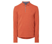 Poloshirt aus Jersey mit langen Ärmeln