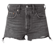 High Rise Jeansshorts aus Baumwolle Modell '501'