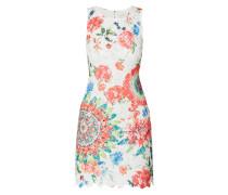 Kleid aus Spitze mit floralem Print