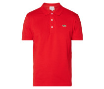 Slim Fit Poloshirt mit Logo-Badge