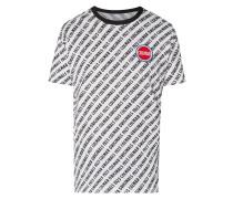 T-Shirt mit Logo-Muster