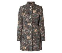 Mantel mit floralem Jacquardmuster