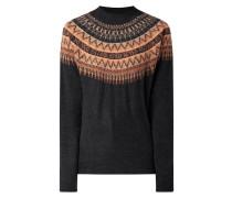 Pullover im Norweger-Dessin