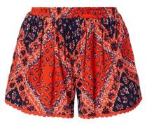 Shorts mit ornamentalem Muster