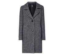 Mantel aus Bouclé mit Reverskragen