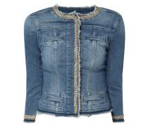 Jeansjacke mit Kettendetails