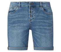 Regular Fit Jeansshorts mit Knopfleiste