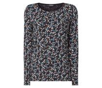 Shirt mit Samtbesatz