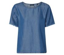 Blusenshirt in Denim-Optik