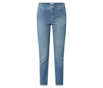 Cropped Slim Fit Jeans mit Stretch-Anteil Modell 'Ornella'