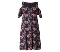 Cold Shoulder Kleid mit Allover-Muster