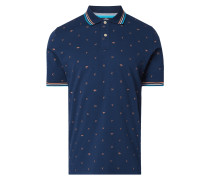 Casual Fit Poloshirt mit Allover-Muster