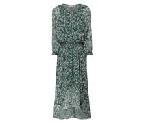 Kleid aus Viskosekrepp mit Millefleurs