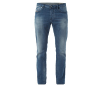 Regular-Tapered Fit Jeans im Used Look